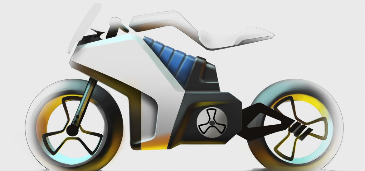 E-Bike Konzept Key Sketch